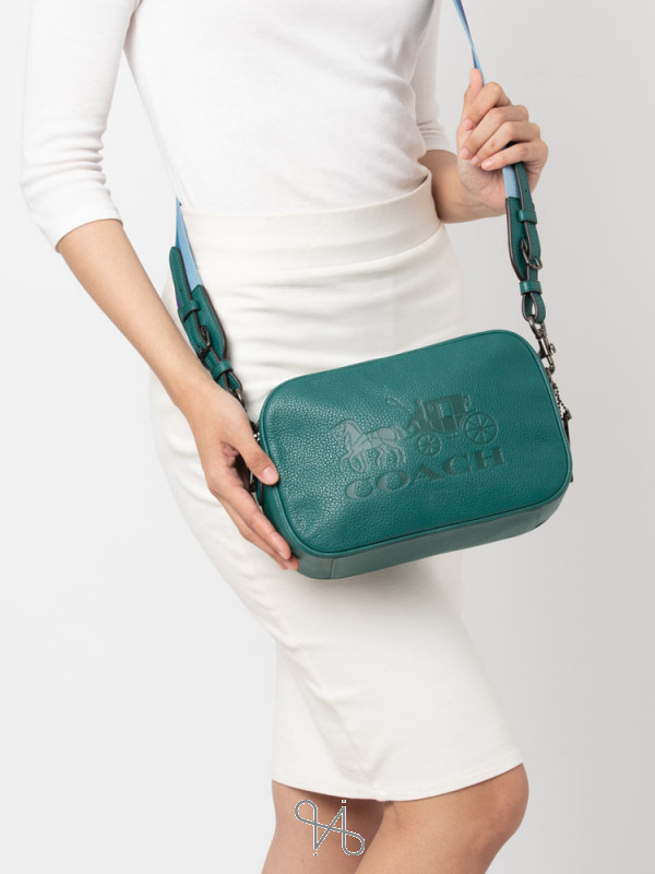 COACH 75818 Jes Leather Crossbody Viridian