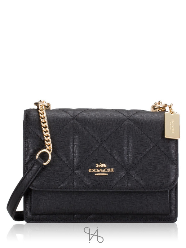 COACH 91173 Quilted Leather Klare Crossbody Black