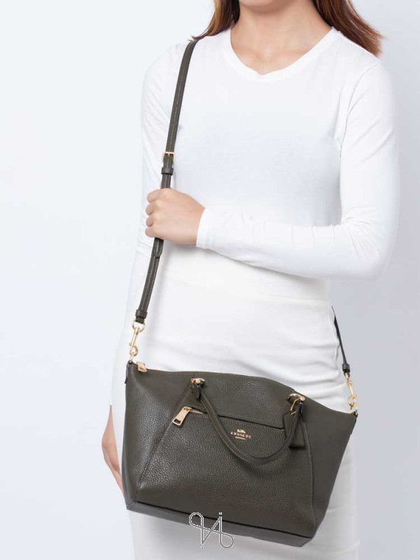 COACH 79997 Pebble Leather Prairie Satchel Canteen