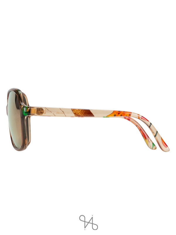 GUCCI GG3636 Floral Square Sunglasses Havana Brown