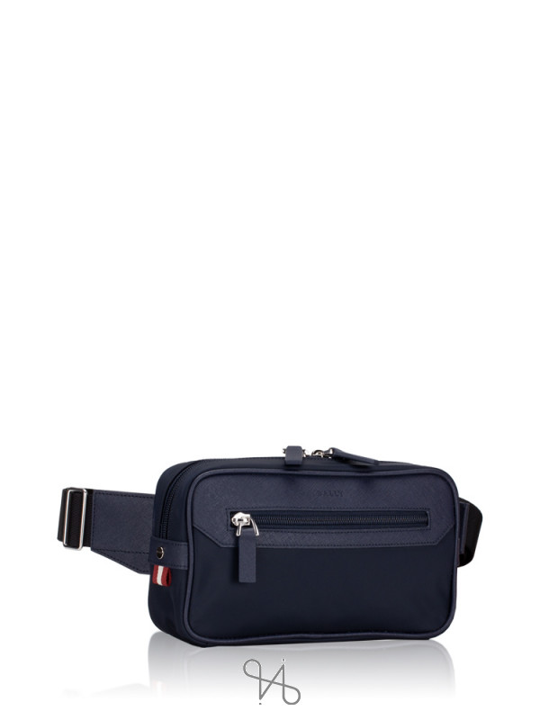 BALLY Twister Nylon Belt Bag Navy
