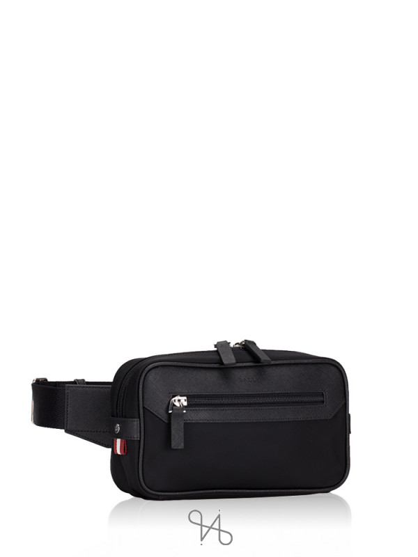 BALLY Twister Nylon Belt Bag Black