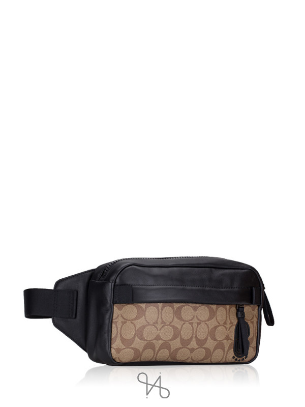 COACH Men 89918 Signature Edge Belt Bag Tan