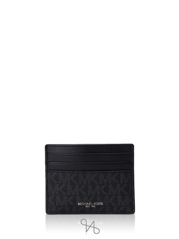 MICHAEL KORS Men Cooper Signature Tall Card Case Black