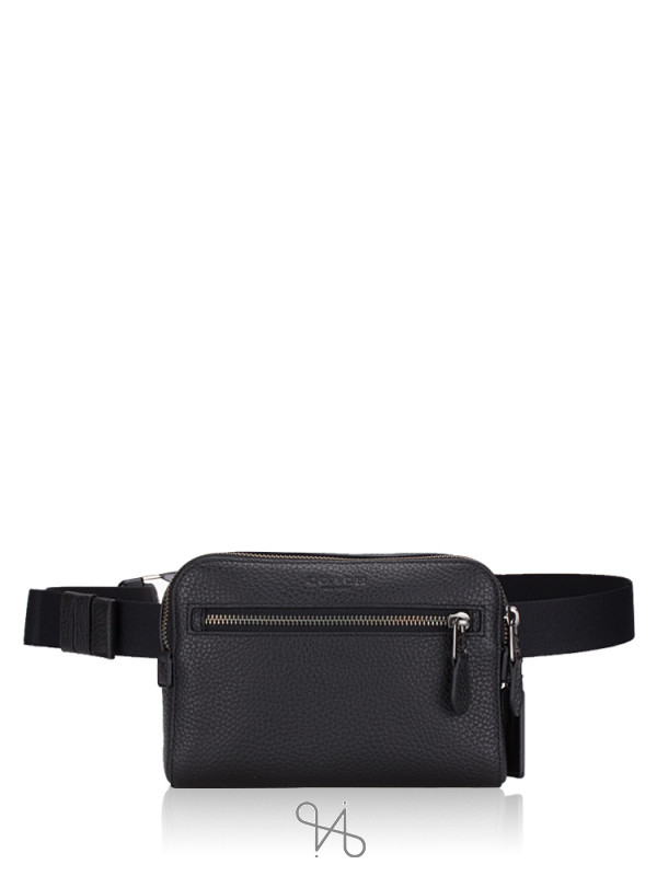 COACH 72506 West Leather Belt Bag Black