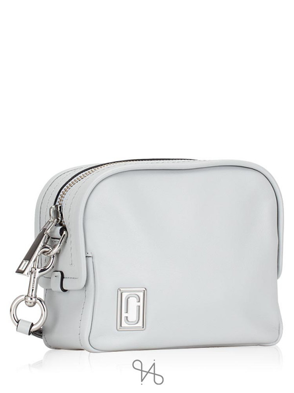 MARC JACOBS Mini Squeeze Leather Crossbody Light Grey