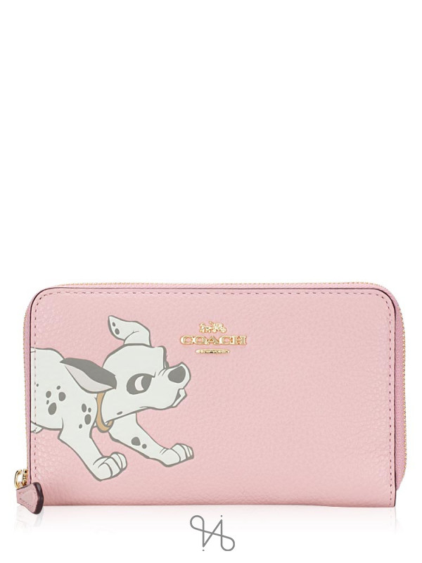 COACH 91191 Disney Dalmatian Medium Zip Around Wallet Blossom