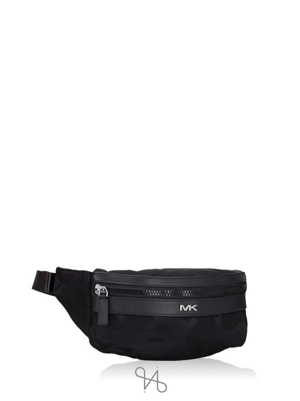 MICHAEL KORS Men Kent Nylon Belt Bag Camo Black