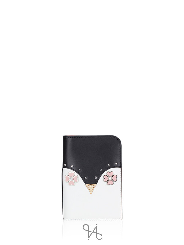 KATE SPADE Frosty Passport Holder Black