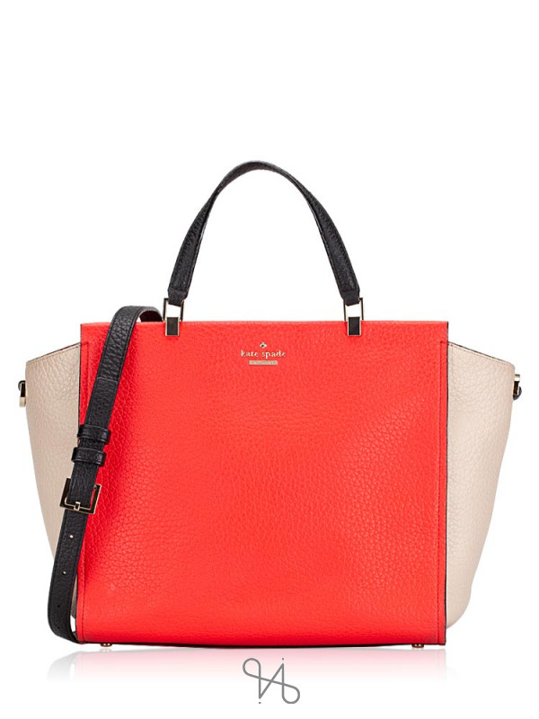 KATE SPADE Chelsea Square Hayden Leather Geranium