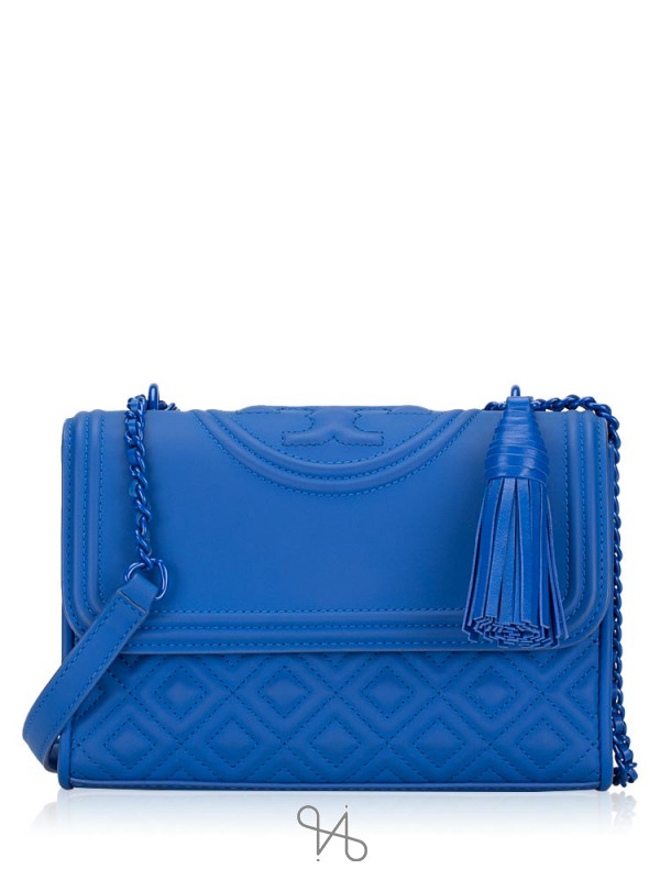 TORY BURCH Fleming Matte Small Convertible Shoulder Bag Mediterranean Blue