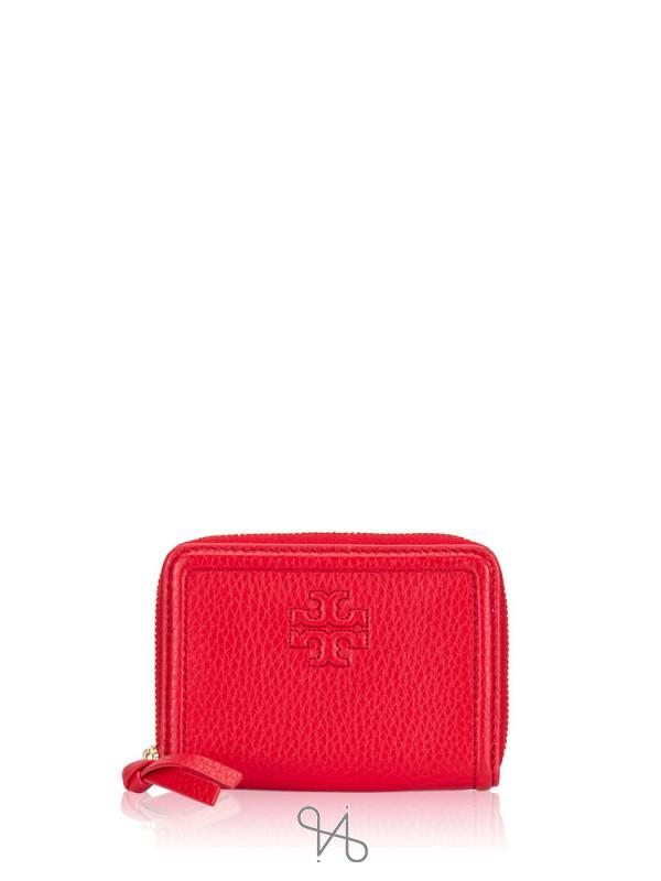 TORY BURCH Thea Zip Card Case Liberty Red