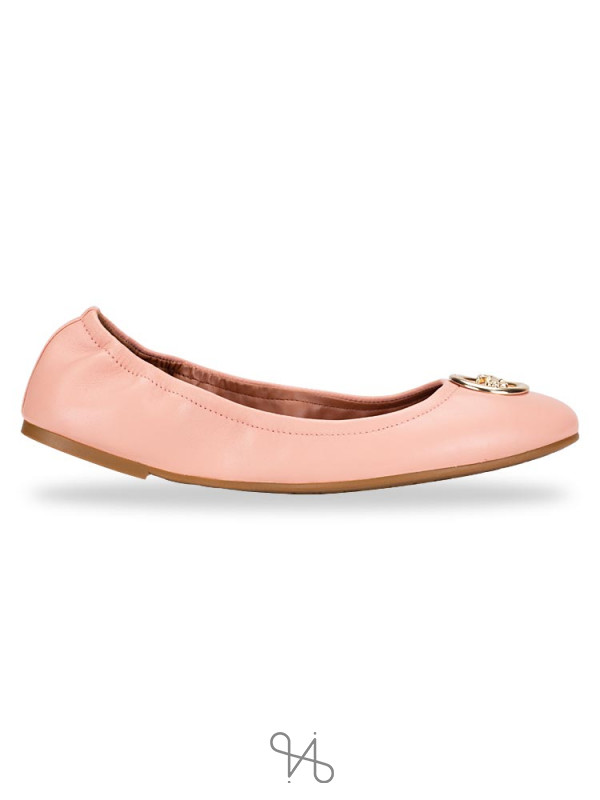 COACH Bailey Leather Ballet Flats Petal Sz 11