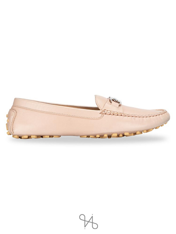 SALVATORE FERRAGAMO Saba Leather Loafers Beige Sz 7