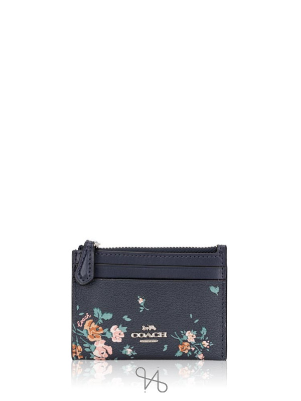 COACH 91788 Rose Bouquet Print Mini Skinny Midnight Multi