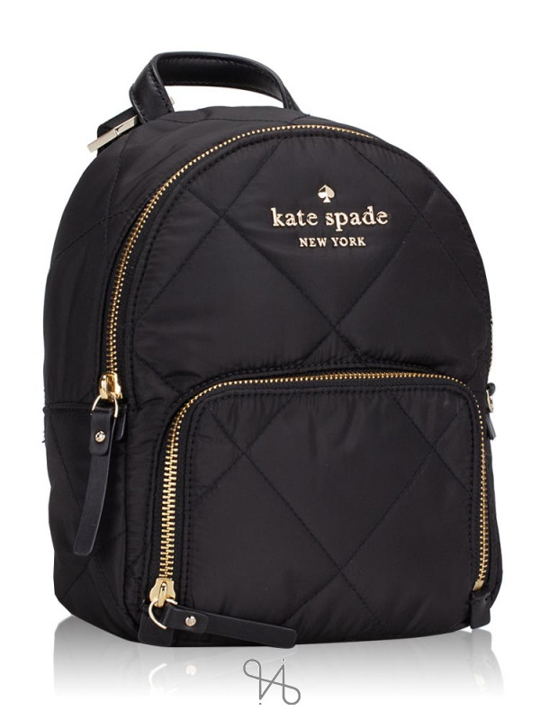 KATE SPADE Watson Lane Quilted Hartley Small Backpack Black