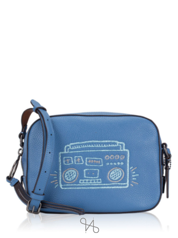 COACH 28664 X Keith Haring Boombox Camera Bag Sky Blue