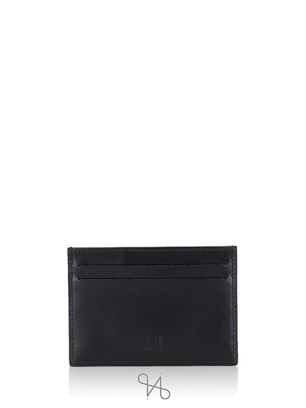 DUNHILL Men Reeves Leather Card Case Black