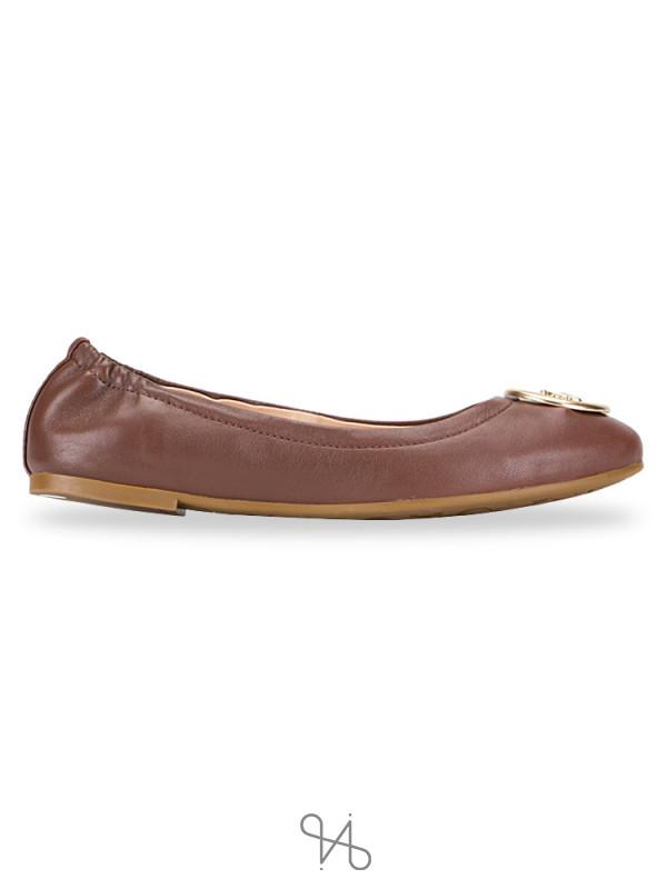 COACH FG2944 Bailey Leather Ballet Saddle Sz 5