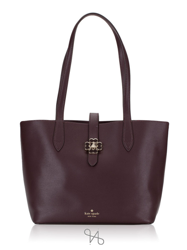 KATE SPADE Kaci Small Tote Chocolate Cherry