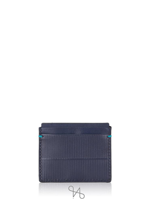 CALVIN KLEIN Leather Card Case Navy