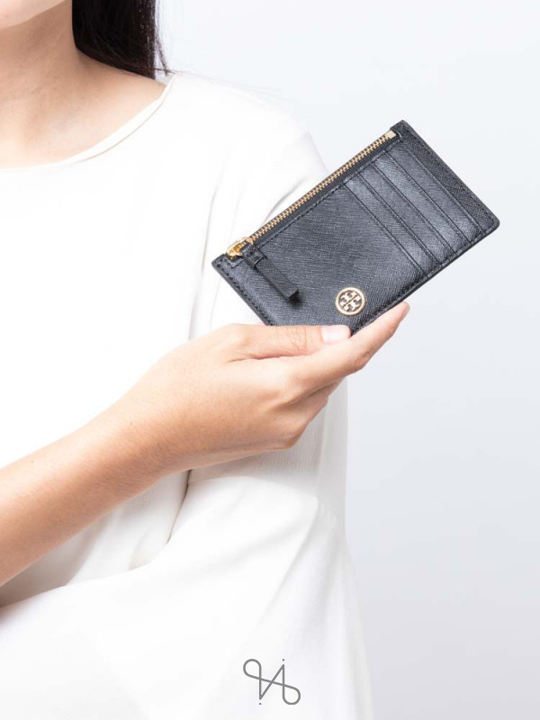 TORY BURCH Robinson Slim Card Case Black