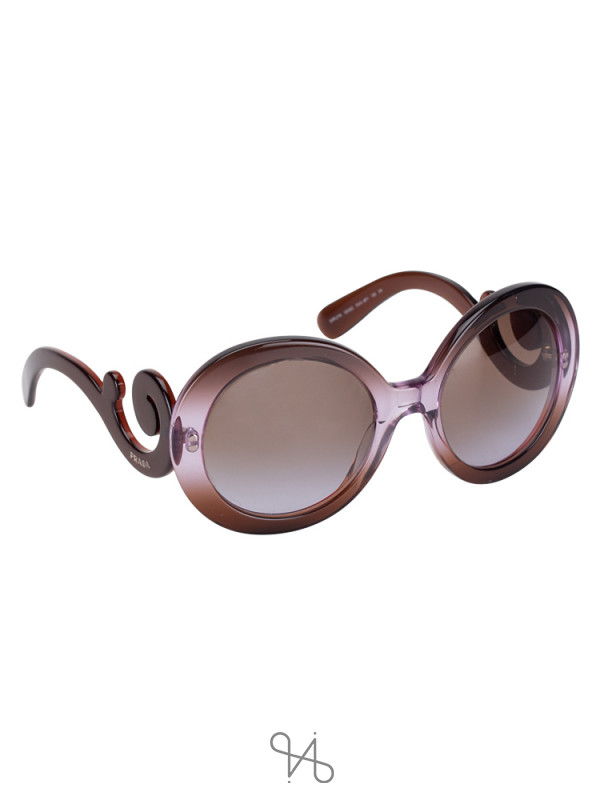 PRADA SPR27N Minimal Baroque Sunglasses Purple