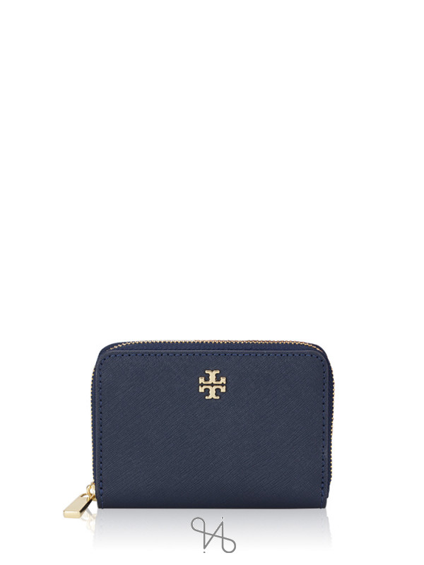 TORY BURCH Emerson Zip Coin Purse Royal Navy