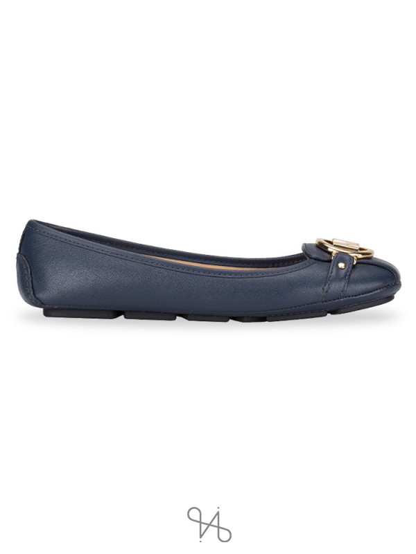 MICHAEL KORS Fulton Leather Flats Admiral Sz 6