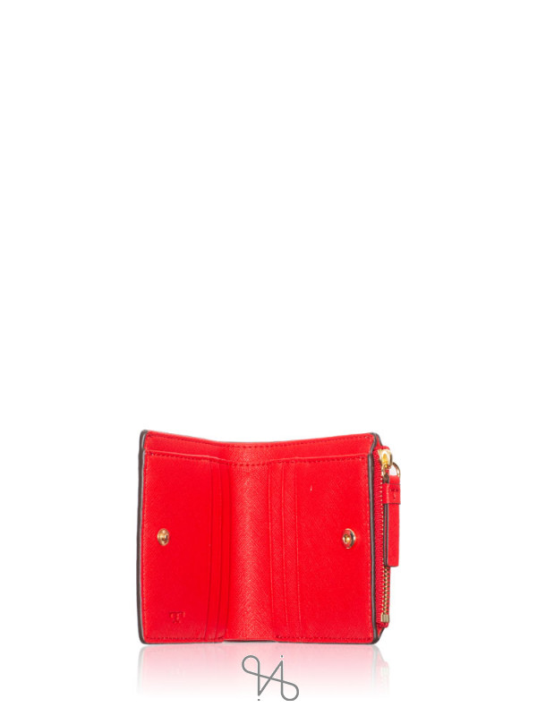 TORY BURCH Robinson Mini Wallet Brilliant Red