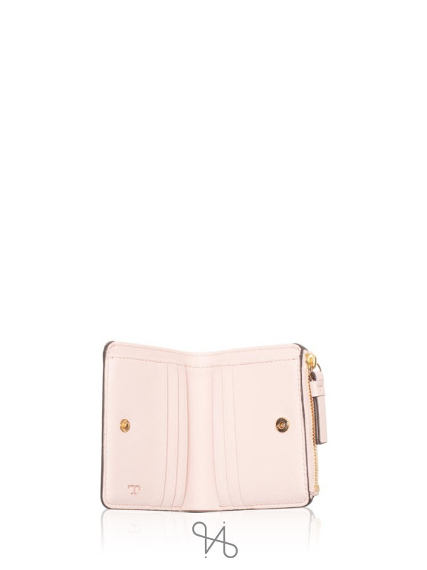 TORY BURCH Robinson Mini Wallet Shell Pink