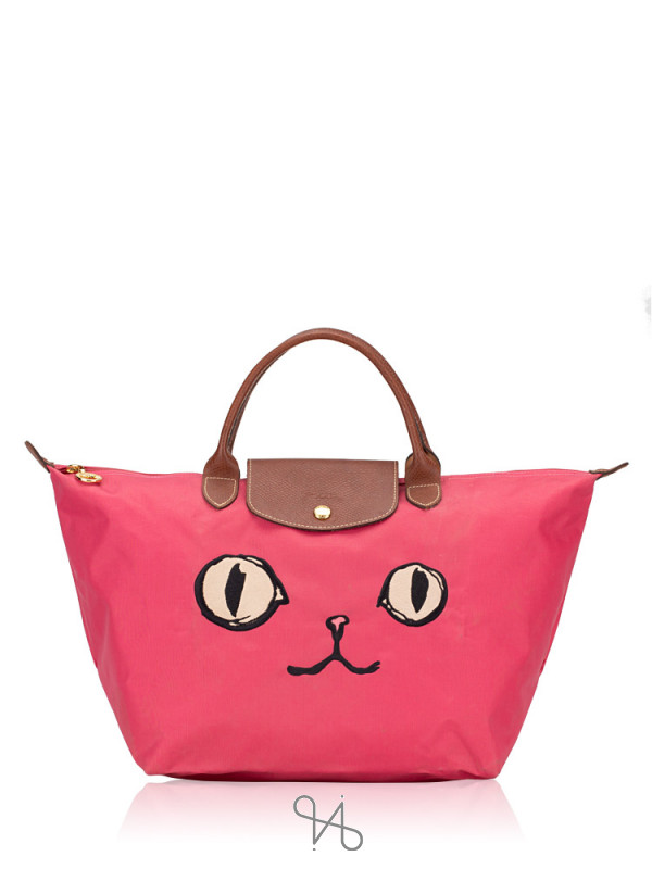 LONGCHAMP Le Pliage Miaou Medium SH Pink