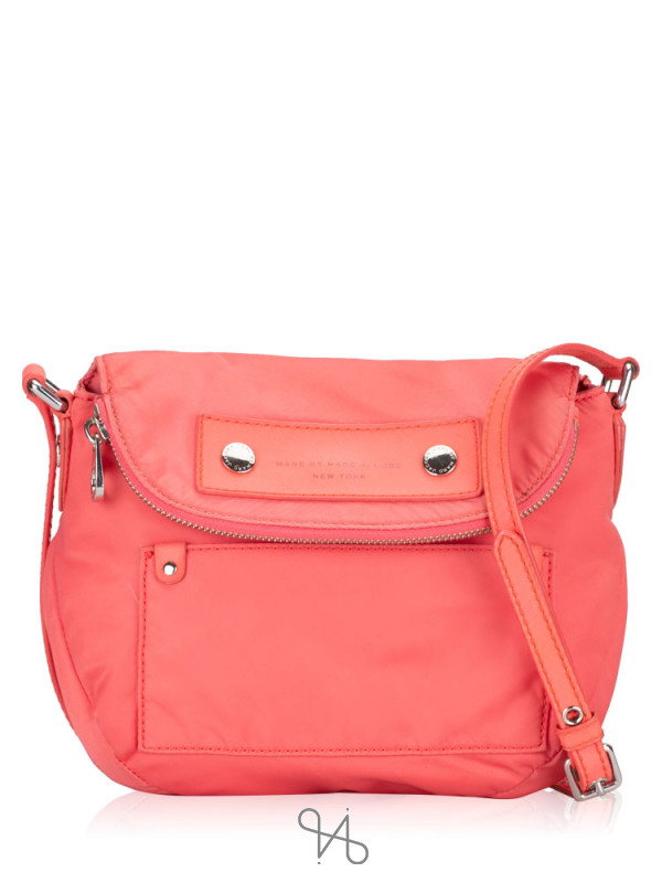 MARC JACOBS Mini Preppy Nylon Natasha Bag Bright Coral