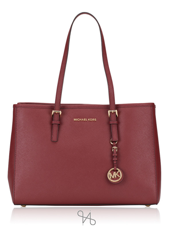 MICHAEL KORS Jet Set East West Travel Large Tote Brandy