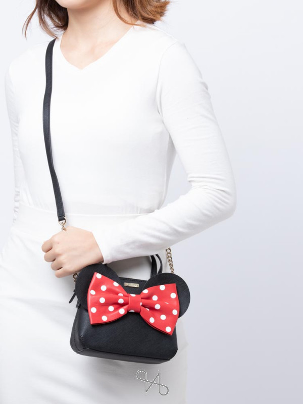 KATE SPADE X Minnie Mouse Mini Maise Satchel Black