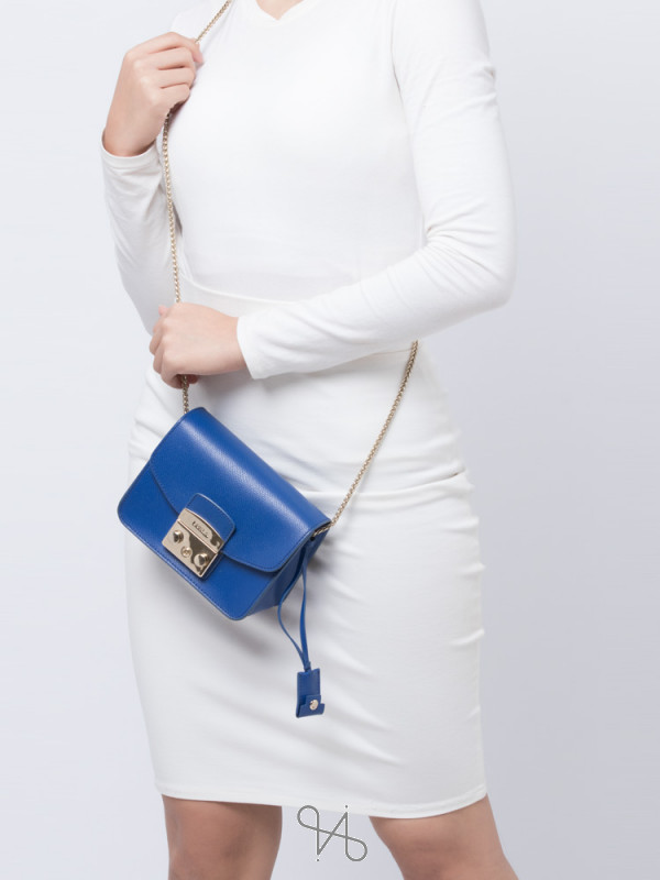 FURLA Metropolis Mini Crossbody Blue Laguna