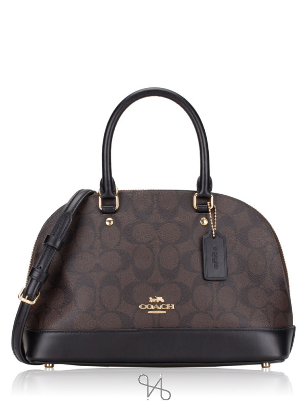COACH 27583 Signature Mini Sierra Satchel Brown Black