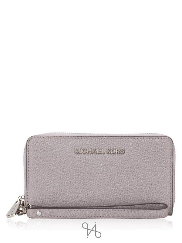 MICHAEL KORS Jet Set Multifunction Phone Case Pearl Grey