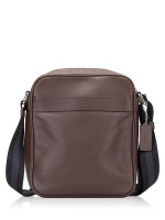 COACH Men 54782 Flight Smooth Leather Messenger Mahogany