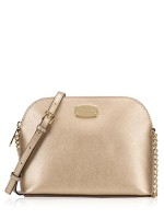 MICHAEL KORS Cindy Large Dome Crossbody Pale Gold