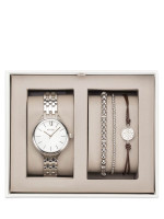 FOSSIL BQ3079 Stainless Watch And Bracelet Gift Set Silver