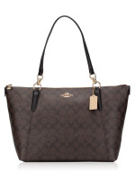 COACH 58318 Signature Ava Top Zip Tote Brown Black