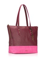 FOSSIL SHB1557640 Jenna Leather Tote Wine Multi