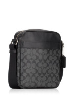 COACH Men 54788 Charles Flight Signature Messenger Charcoal Black