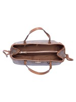 COACH 57842 Signature Drawstring Carryall Khaki Saddle