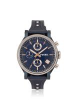 FOSSIL ES4113 Boyfriend Sport Chronograph Leather Blue