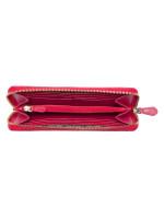 COACH 54007 Crossgrain Leather Zip Wallet True Red
