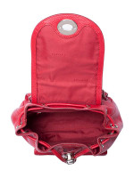 COACH 37581 Pebble Leather Mini Turnlock Backpack True Red