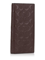 COACH Men 75365 Signature Breast Pocket Wallet Mahogany