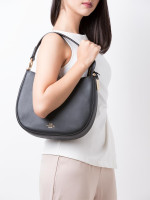 COACH 54446 Glovetanned Small Nomad Leather Hobo Black